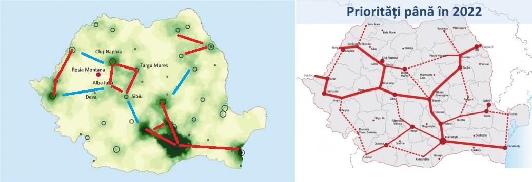 autostrazile si regiunile economice ale romaniei