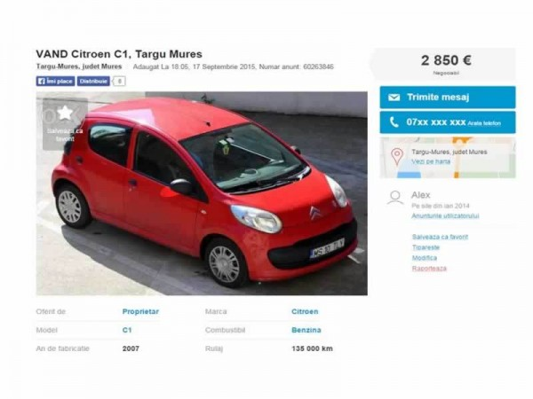 citroen c1 second hand