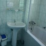 Cazare Targu Mures la Motel Via in camera matrimoniala cu mic dejun inclus imagine din baia cu cada