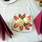 desert la Restaurant Via inghetata cu capsuni 3