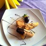 desert la Restaurant Via piscot cu ciocolata si capsuni 3