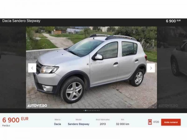 dacia sandero second hand